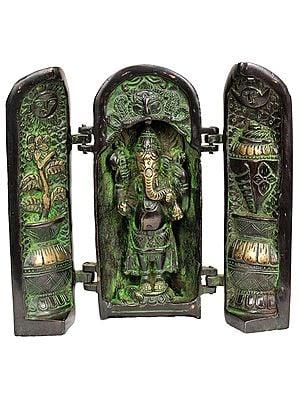 Ganesha Folding Portable Temple