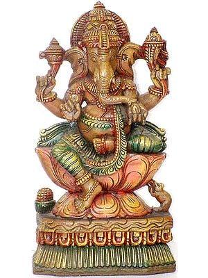 Four-Armed Ganesha in Lalitasana