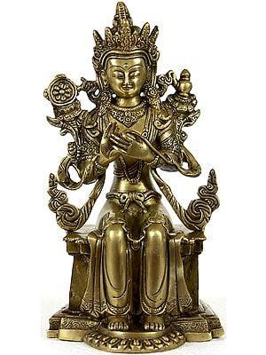 Tibetan Buddhist Deity Bhadrasana Maitreya