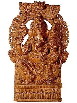 Ganesha with His Shakti