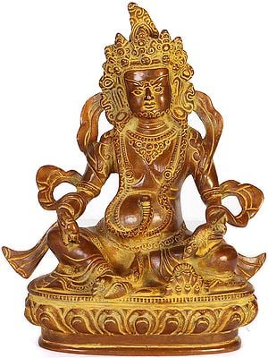 (Tibetan Buddhist Deity) Vaishravana with Jewel Offering