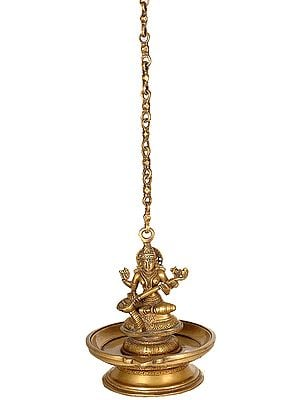 Lamp of Wisdom (Goddess Saraswati Hanging Lamp)