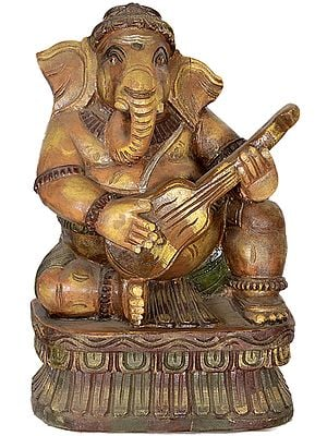 Lord Ganesha Playing Guitar