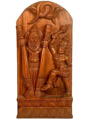 Lord Narasimha Emerges from a Split Pillar