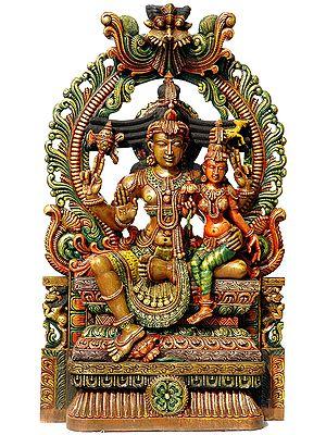 Lord Shiva with His Shakti Parvati
