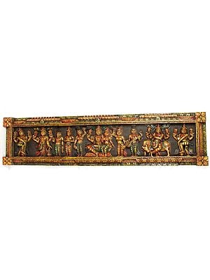 Lord Vishnu Lakshmi with Krishna, Brahma, Narada, Attendants and Doorkeepers