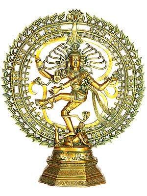 Nataraja Dancing against The Backdrop of Om