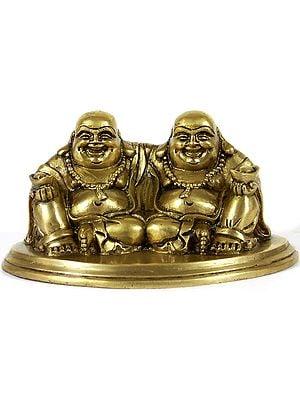 Pair of Laughing Buddhas