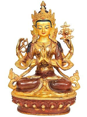 Tibetan Buddhist Deity- Chenrezig (Shadakshari Avalokiteshvara)
