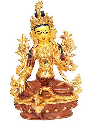 Tibetan Buddhist The Savior Goddess Green Tara