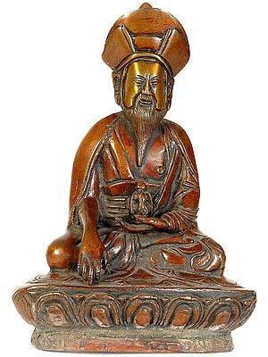 (Tibetan Buddhist Deity) Guru Lama Holding the vase of Immortality