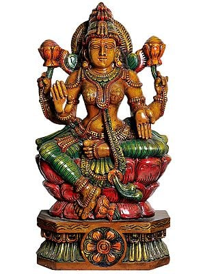 In Exact Adherence to Goddess Lakshmi's Classical Iconography (Large Size)