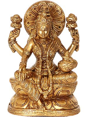 Four Armed Goddess Lakshmi with Wealth Pot