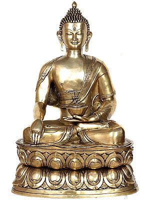 Padmasana Buddha In Bhumisparsha Mudra, His Divine Countenance Impossible To Look Away From