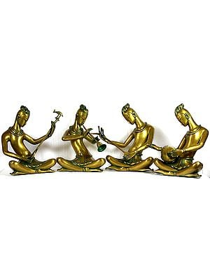 Group of Performing Musicians (Set of Four Sculptures)