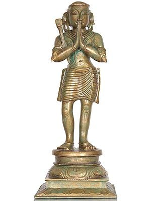 Saint Appar: A Nayanmar Bhakta of Shiva, Holding a Hoe