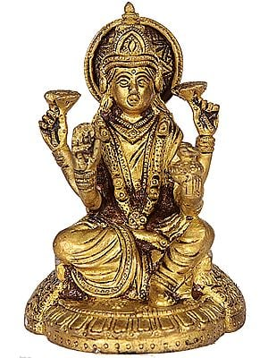 Goddess Lakshmi with Wealth Pot