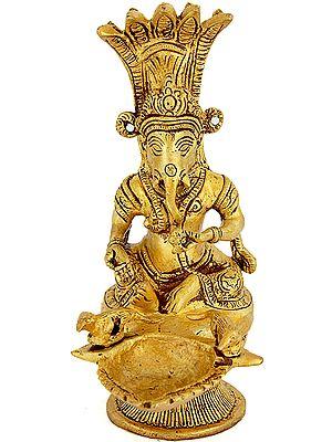 Lord Ganesha Hand-Held Puja Lamp