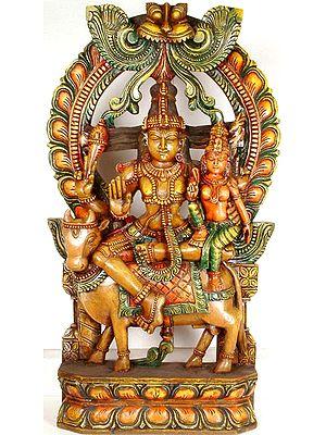 Shiva and Parvati on Nandi