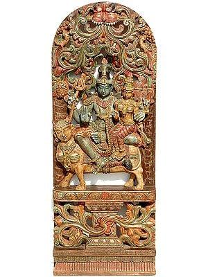 Uma Maheshvara on Kamadhenu
