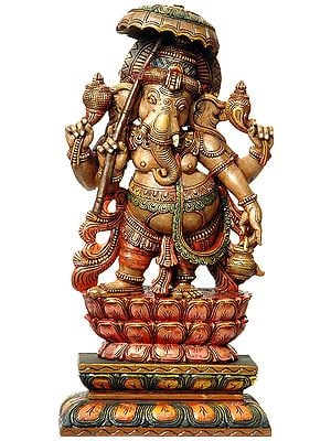 Umbrella-Carrying Dancing Ganesha
