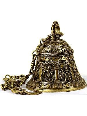 Shri Krishna Lila Wall Hanging Bell