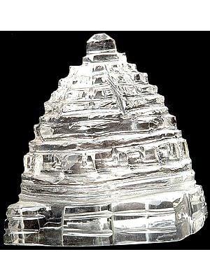 Shri Yantra Carved in Crystal