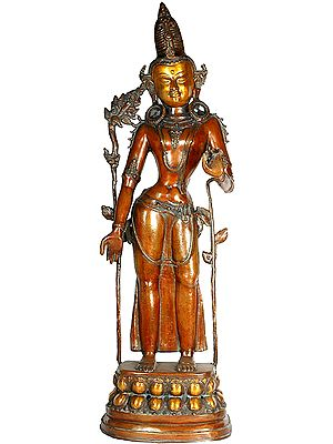 Large Size Standing Avalokiteshvara (Tibetan Buddhist Deity)