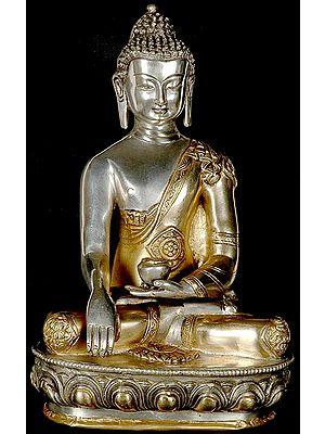 The Union of Samsara and Nirvana (Buddha in the Bhumisparsha Mudra with Ashtamangala Carved on His Robe)