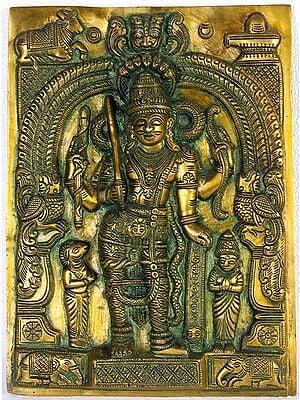 Virabhadra - Shiva's Most Trusted Guard (Wall Hanging)