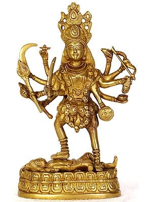 Goddess Kali with Ten Hands