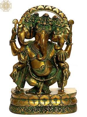 Three-headed Dancing Ganesha