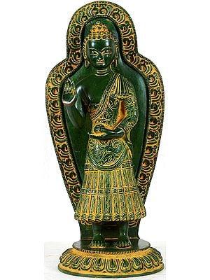 Gandhara Buddha in Abhaya Mudra