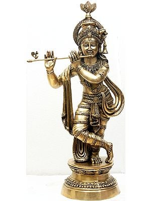 Large Size Fluting Krishna