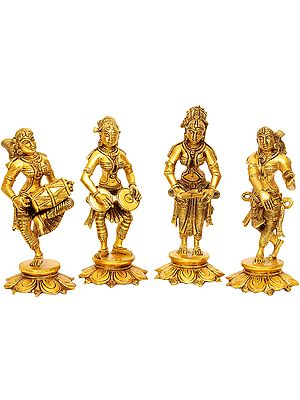 Set of Four Celestial Musicians