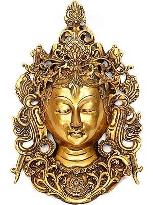 Tibetan Buddhist Deity- Goddess Tara Wall Hanging Mask