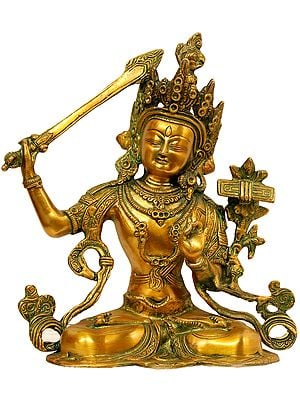 Tibetan Buddhist Deity Manjushri - Bodhisattva of Transcendent Wisdom
