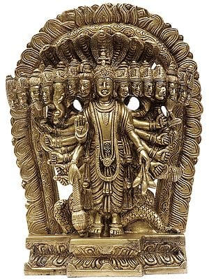 Lord Vishnu in His Cosmic Magnification