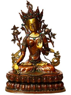 Large Size Tibetan Buddhist Mother Goddess White Tara