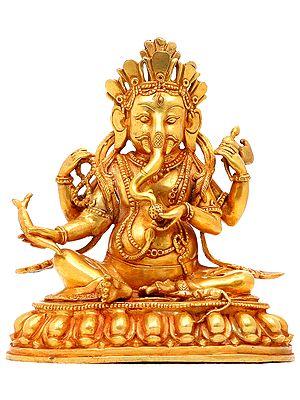 Seated Ganesha with Radish