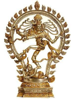 Nataraja in Gold and Silver Hue