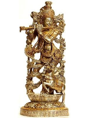 Venugopala (Murali Krishna) in Silver and Golden Hues