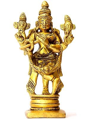 Fluting Krishna (Small Sculpture)