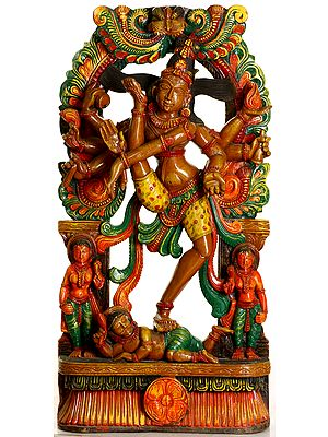 Eight-Armed Nataraja Shiva Engaged in Ananda-Tandava