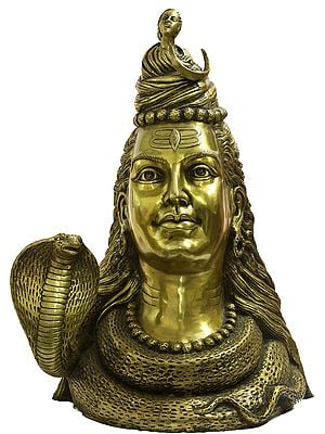 Large Size Shiva's Bust Representing Him as Gangadhara