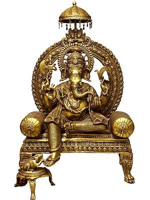 Large Size Haridra Ganapati: The Majestic Image of Lord Ganesha