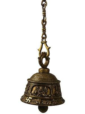 Jai Mata Di Temple Ceiling Bell
