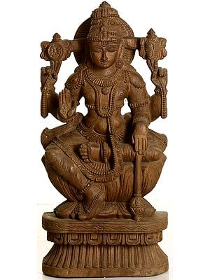 Lord Vishnu Seated on Lotus