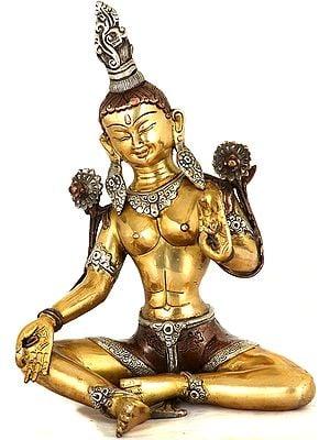 Tibetan Buddhist Deity- Triple-Hued Goddess Green Tara