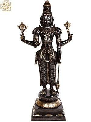 Lord Vishnu: The Cosmic Commander (Large Size)